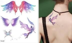 B Top Voděodolné Dočasné Tetování Motiv Anděl