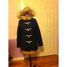 American Eagle Outfitters Navy Toggle Coat