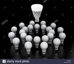 Light Bulb Laying Down Led Light Bulb Shining In Midair Incandescent Light Bulbs