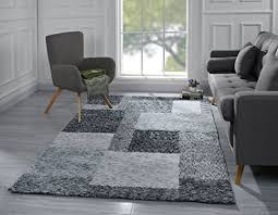 modern living room area rug with geometric square pattern 5 x 7