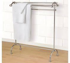 chrome towel rack polished metal butler