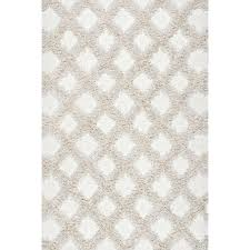 nuloom francene diamond trellis gy ivory 8 ft x 12 ft area rug
