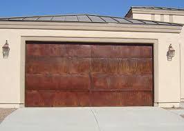 rustic garage doorsCopper Garage Doors Phoenix AZ  Rustic Garage Doors