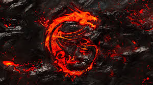 MSI Dragon Logo Burning Lava Background ...