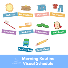 Adhd Morning Routine Chart Morning Routine Visual Schedule Cards The Mama Workshop