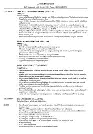 Administrative Assistant Job Resume Examples Sales Administrative Assistant Resume Samples Velvet Jobs 68