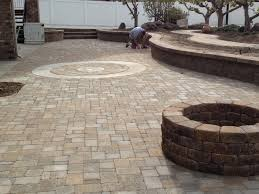 pad cobblestone patio  time to get plants in before our gathering but that will come in good