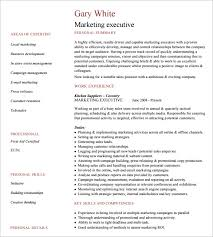 Collection of Solutions Sample Marketing Executive Resume Also Sample  Proposal