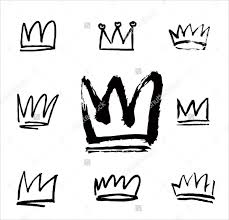 crown brush. hand drawn ps crowns brushes crown brush