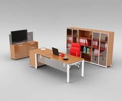 sleek office furniture. Sleek Office Furniture Set 3D Model