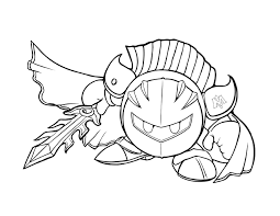 Small Picture Meta Knights Face Coloring Coloring Pages