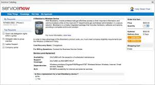 screenshots service catalog and reporting