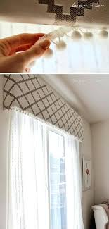 fabric covered cornice board with pom poms diy wooden boards window treatment ideas tutorials