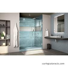 dreamline unidoor lux 60 in w x 72 in h fully frameless hinged shower door with