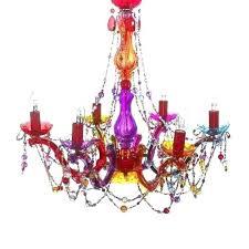 multi colored chandelier crystal gypsy multicolored coloured glass colo