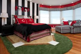 baseball rug kids traditional with baseball bedroom cottage custom rug red seaside window treatments wood floor