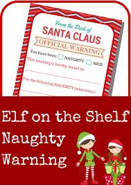 elf on the shelf naughty warning letter