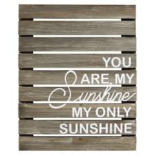 stratton home decor you are my sunshine plank wooden wall decor s01881