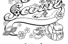 Girl Scouts Coloring Pages Just Girl Scouts Coloring Pages Girl