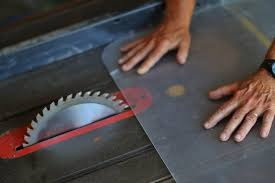 using a table saw to cut through plexiglass