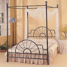 Making A Statement In The Bedroom The Modern Canopy Bed  Design Canopy Iron Bed