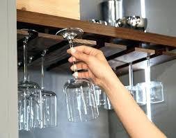 wine glass shelf w wood frame and rack hanging holder ikea malaysia hook stemware