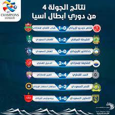 نتائج الجولة 4 من دوري أبطال آسيا - التيار الاخضر
