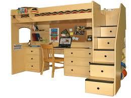 wood bunk bed with desk. Exellent With Bunk Beds With Desk To Wood Bed With Desk
