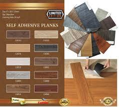 self adhesive self stick vinyl floor water proof 16 pcs x 36 x 6