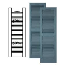 exterior louver. custom vinyl louvered shutters w/ center mullion exterior louver o