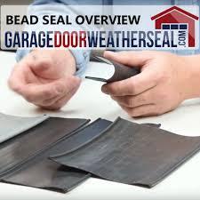 garage door weather seal bead type overview