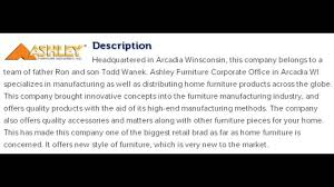 Ashley Furniture Corporate fice Contact Information