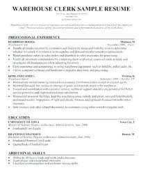 Warehouse Clerk Resume Magnificent Warehouse Clerk Resume Warehouse Resume Templates Here Are Warehouse