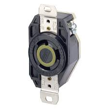 leviton 2610 30 amp, 125 volt, flush mounting locking receptacle leviton plug instructions at 250 Volt Plug Wiring For Leviton