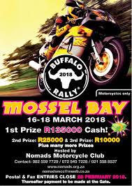 motorcycle club flyers mossel bay buffalo rally 2018 local info co za