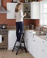 kitchen step ladder wood step stool kitchen ladder folding furniture wooden home decor off