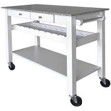 kitchen island cart white. Sonoma White Kitchen Island Cart W/ Pebble Beach Granite Top Kitchen Island Cart White C