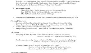 Performance Resume Template Amazing Music Performance Resume Examples Sample Producer Template