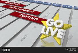 Live Gantt Chart Go Live Date Launch Image Photo Free Trial Bigstock