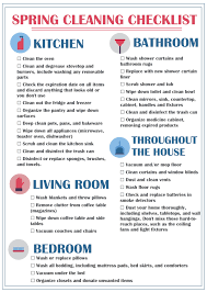 House Cleaning Service Spring Checklist The Tasty Bite
