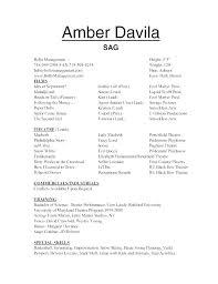 Kids Acting Resume Theatrical Resume Sample Creative Child Actor Extraordinary Kids Resume