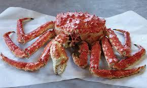 Entrega de caranguejo real ao vivo ou cozido - opções locais e nacionais