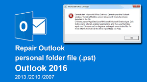 How To Repair Outlook Data Files Pst In Outlook 2016 2013 2010 2007