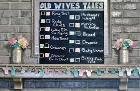 Gender Wives Tales Chart Gender Reveal Party Project Nursery