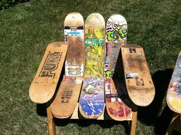 custom made skateboard deck chair