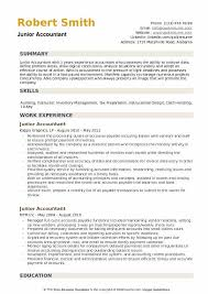 Accountant Resume Sample Simple Junior Accountant Resume Samples QwikResume