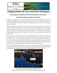 30 Year Fixed Jumbo Mortgage Rates Chart Exchange Traded Proxy Hedge For Jumbo 30yr Fixed Mortgages