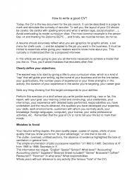 How To Write A Good Resume Unique Cool Ideas How To Write A Good Resume 28 CV Writing Resume Samples