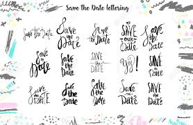 Lettering Templates Save The Date Wedding Lettering For Templates Labels With Hand