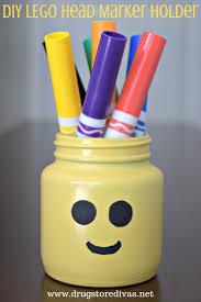diy lego head marker holder